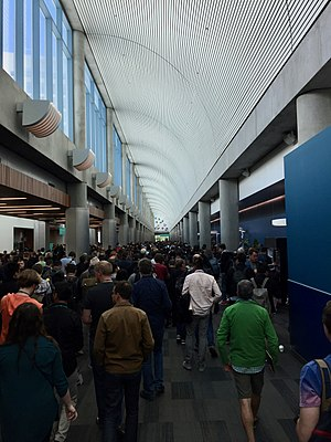 San Jose Convention Center - The Concourse during the 2017 Apple Worldwide Developers Conference