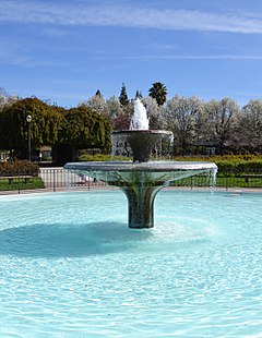 San Jose Municipal Rose Garden Fountain.JPG