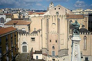 Artistic patronage of the Neapolitan Angevin dynasty - The Church of San Domenico Maggiore in Naples (apse area).