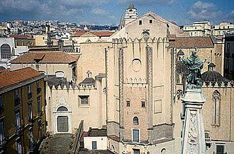 Artistic patronage of the Neapolitan Angevin dynasty - The Church of San Domenico Maggiore in Naples (apse area).