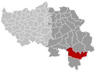 St. Vith - Image: Sankt Vith Liège Belgium Map