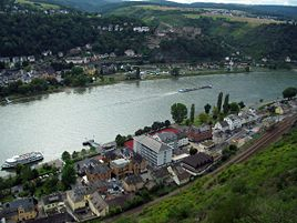 View of St. Goar (in top half of picture) from Patersberg