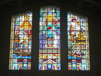 Santo Domingo Church - One of Galo Ocampo's stained class windows