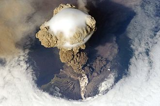 Geology - Sarychev Peak Volcano erupts June 12, 2009, on Matua Island.