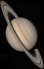Voyager 2 Saturn approach view