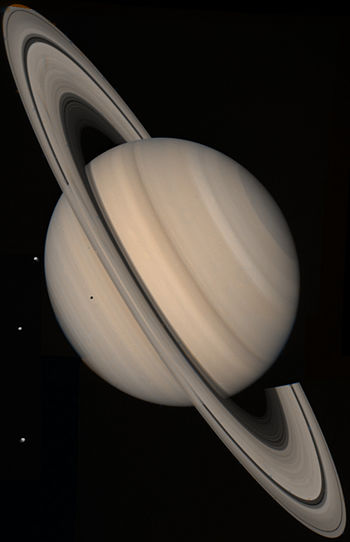 True-color picture of Saturn assembled from Vo...