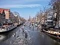 Schaatsen op de Prinsengracht in Amsterdam foto21.jpg