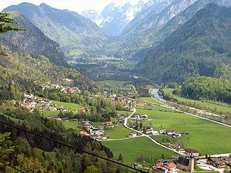 Scheffau am Tennengebirge - Image: Scheffau am Tennengebirge vom Mehlstein gesehen