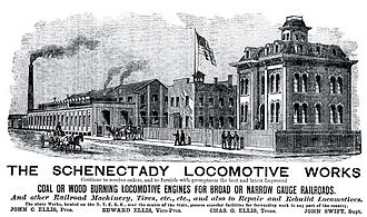 Schenectady Locomotive Works - Advertisement from the 1870s