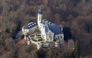 Callenberg Castle - An aerial view of Callenberg Castle