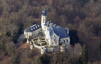 Callenberg Castle - An aerial view of Callenberg Castle