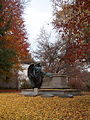 Schoonmaker monument with autumn leaves, Homewood Cemetery.jpg