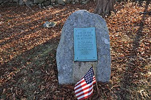 Plymouth County, Massachusetts - Image: Scituate MA Men Of Kent Cemetery First Church Site