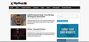 Screen Shot Hiphopza Homepage.jpg