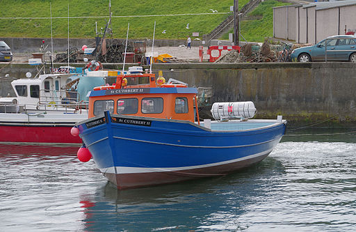 "Seahouses MMB 01 Harbour and ""St Cuthbert II"""