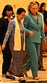 Secretary Clinton with Burmese First Lady in Nay Pyi Taw (6464632633) (cropped).jpg