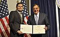 Secretary of Defense Leon E. Panetta presents an award to Michael Morell, acting director of the CIA, on final visit to the CIA.jpg