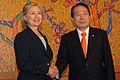 Secretary of State Hillary Clinton visits South Korea-26 MAY 2010-Photo by SSG Nicholas Salcido - 03.jpg