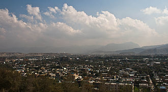Fall of Kabul - Overview of a section of Kabul in 2011.