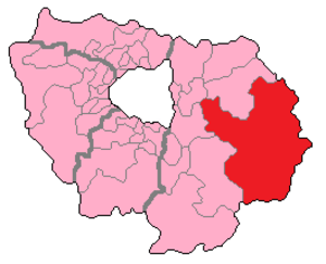 Seine-et-Marne's 4th constituency - Seine-et-Marne's 4th Constituency shown within Île-de-France.