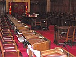 Seats in the Canadian Senate chamber.