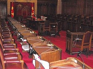 Canadian Senate divisions - Seats in the Canadian Senate chamber.