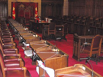 Canadian Senate divisions - Seats in the Canadian Senate chamber.