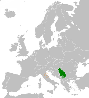 Diplomatic relations between the Republic of San Marino and the Republic of Serbia