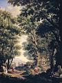 Serie van tien wandschilderingen met arcadische landschappen in de kamer aan de tuinkant op de hoofdverdieping van het huis Herengracht 524 te Amsterdam. Rijksmuseum SK-A-4854-A.jpeg