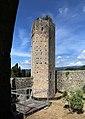 Serravalle Pistoiese, rocca nuova (rocca di Castruccio), torre esagonale 05.jpg