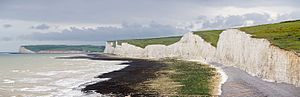 Seven Sisters, Sussex - Image: Seven Sisters Panorama, East Sussex, England May 2009