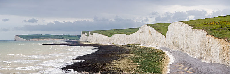 File:Seven Sisters Panorama, East Sussex, England - May 2009.jpg