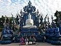 Shan ladies with the big Buddha statue.jpg
