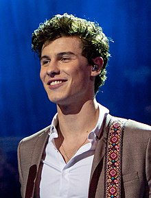 Shawn Mendes at The Queen's Birthday Party (cropped 2).jpg