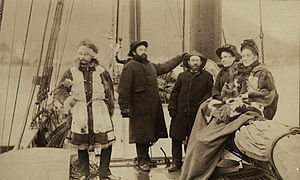 Sheldon Jackson - Photograph of Sheldon Jackson, third from right, on USS ''Bear''