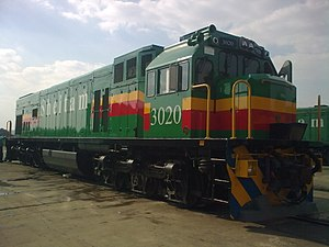 Photograph of the type of locomotive hauling the train