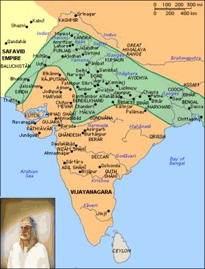 Sur Empire - Territory of Sur Empire in green