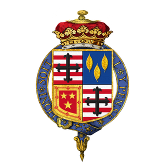 Cromartie Sutherland-Leveson-Gower, 4th Duke of Sutherland - The Duke of Sutherland's garter encircled shield of arms