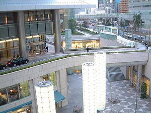 Underground city - Shiodome City Center underground in Minato, Tokyo, Japan