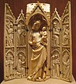 Shrine with the Virgin and Child, North France, ca. 1300-1350 (14677378783).jpg