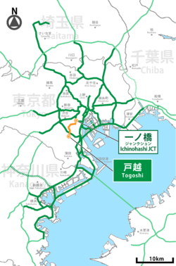 Shutoko expwy meguro route.png