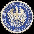 Siegelmarke Königlich - Preussische Bade - und Brunnendirektion Ems W0210179.jpg