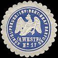 Siegelmarke K. Pr. Infanterie Regiment Graf Barfuss (4. Westfälisches) No. 17 W0285622.jpg