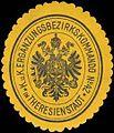Siegelmarke K.u.K. Ergänzungsbezirkskommando No. 24 in Theresienstadt W0319722.jpg