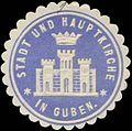 Siegelmarke Stadt und Hauptkirche in Guben W0369138.jpg