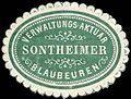 Siegelmarke Verwaltungs-Aktuar Sontheimer - Blaubeuren W0296777.jpg