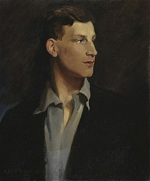 1917 in literature - Portrait of Siegfried Sassoon by Glyn Warren Philpot, 1917