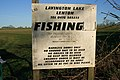 Sign at Lavington Lake - geograph.org.uk - 329791.jpg