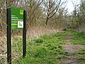 Sign board and path - geograph.org.uk - 774103.jpg