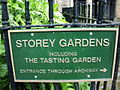 Sign for Storey Gardens - geograph.org.uk - 437580.jpg